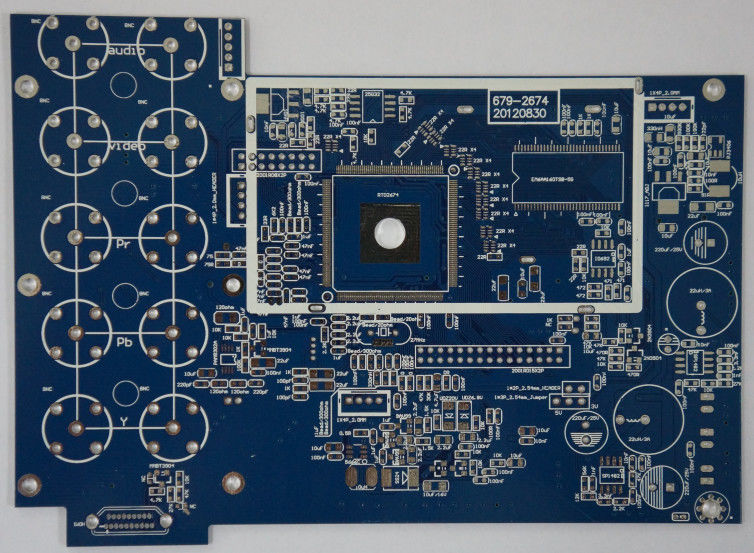 1.6 Mm Thickness Prototype PCB Fabrication FR4 Base Material For OEM Electronics
